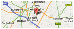 Royal Leamington Spa Golf Academy - map
